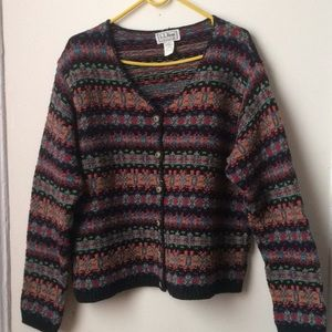Women's knit cardigan by LL bean. Size Large. USA